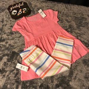 Baby Gap Pink Toddler Dress With Leggings